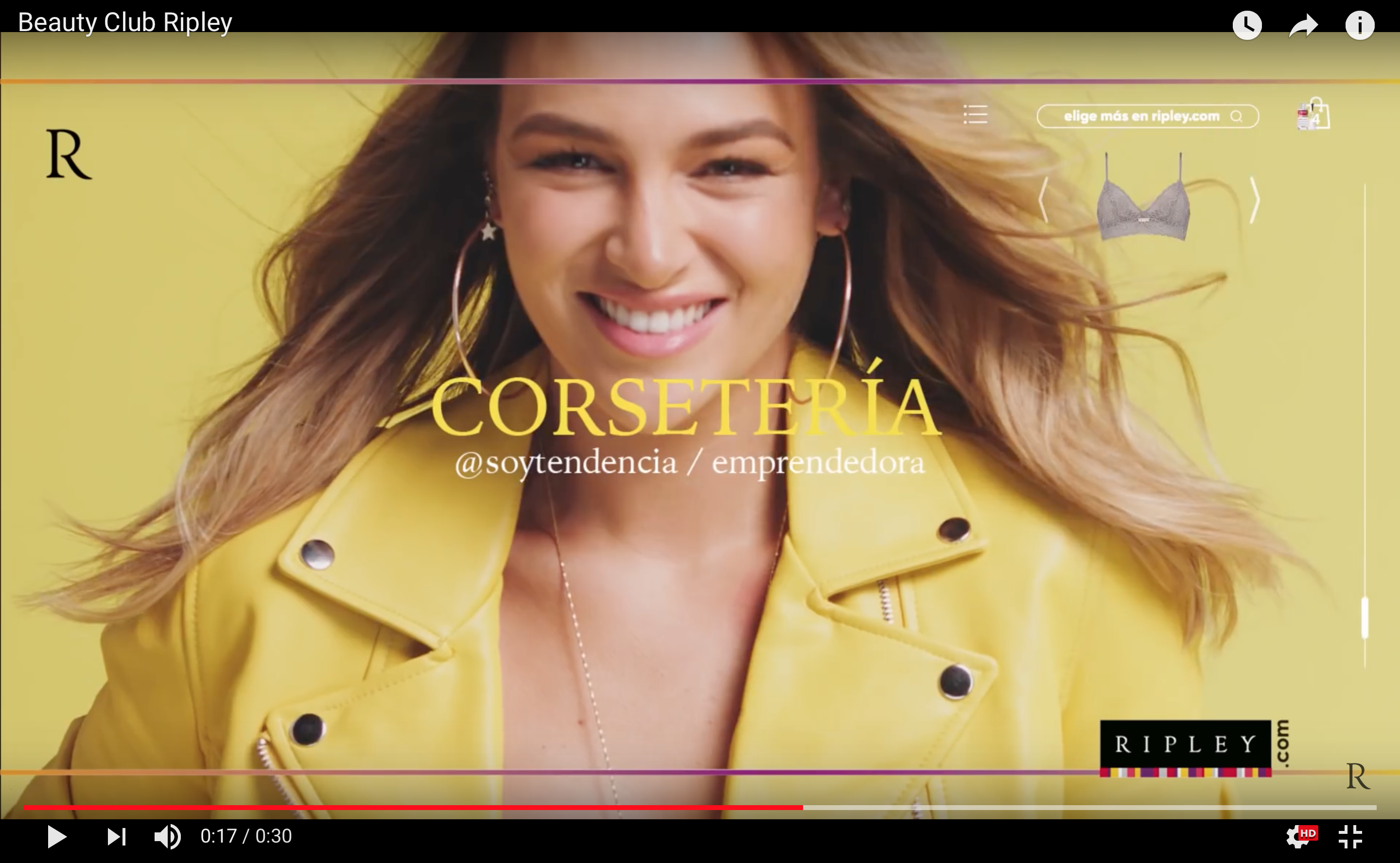 VIDEO – COMERCIAL Ripley Chile #BeautyClub